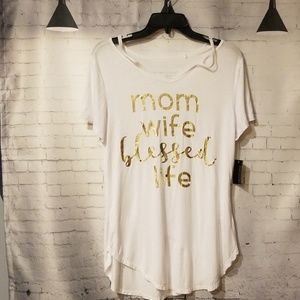 Mom wife blessed life shirt